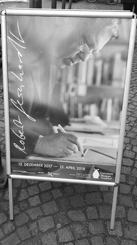 """Ausstellungsplakat zu """"Robert Gernhardt"""" im Caricatura-Museum Frankfurt"""